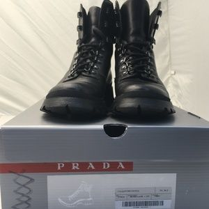 Prada Calzature Donna Hiking Boots - Black 6.5